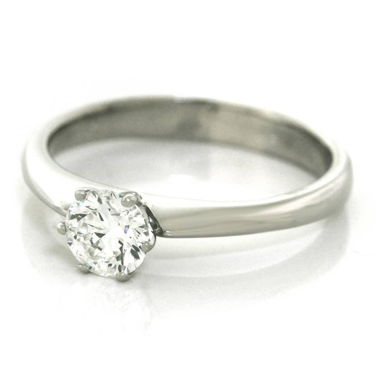 .50ct Diamond Set Platinum Engagement Ring GIA In Excellent Condition For Sale In Litchfield, CT