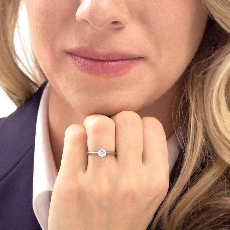 Women's .50ct Diamond Set Platinum Engagement Ring GIA For Sale