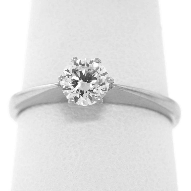 .50ct Diamond Set Platinum Engagement Ring GIA For Sale 1