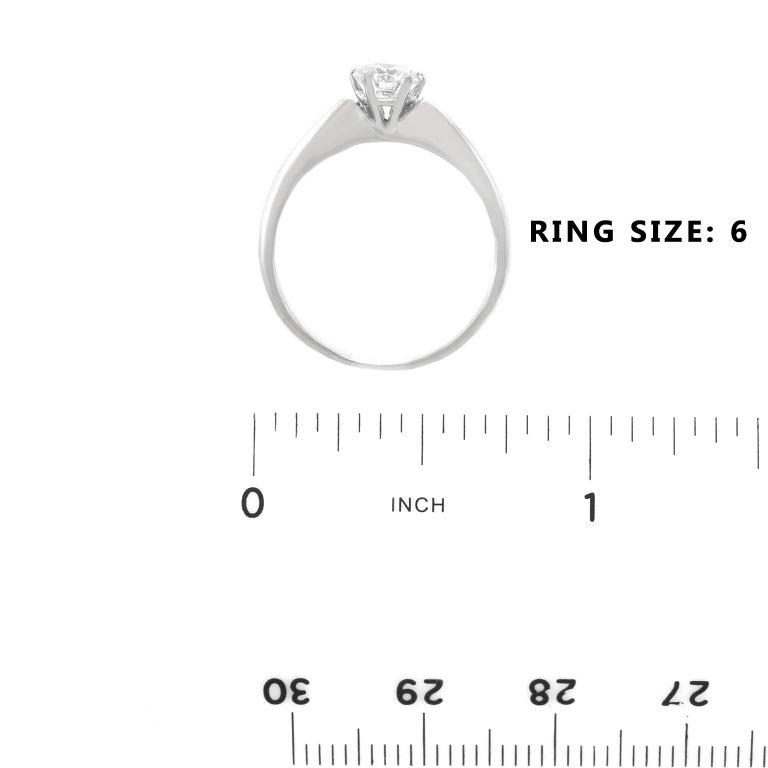 .50ct Diamond Set Platinum Engagement Ring GIA For Sale 2