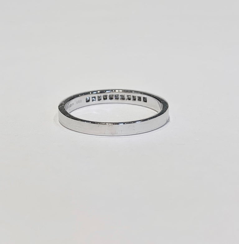 .50 Carat Princess Cut Diamonds Channel Set Eternity Band in 18 Carat White Gold In New Condition For Sale In Chislehurst, Kent