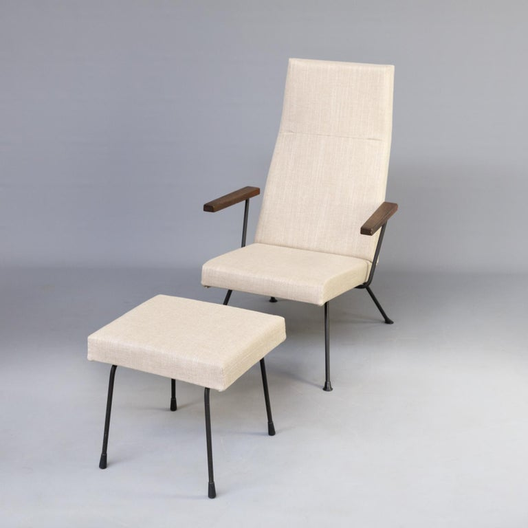 Design Stoel Fauteuil.1950s Andre Cordemeyer Model 1410 Lounge Fauteuil And Ottoman For