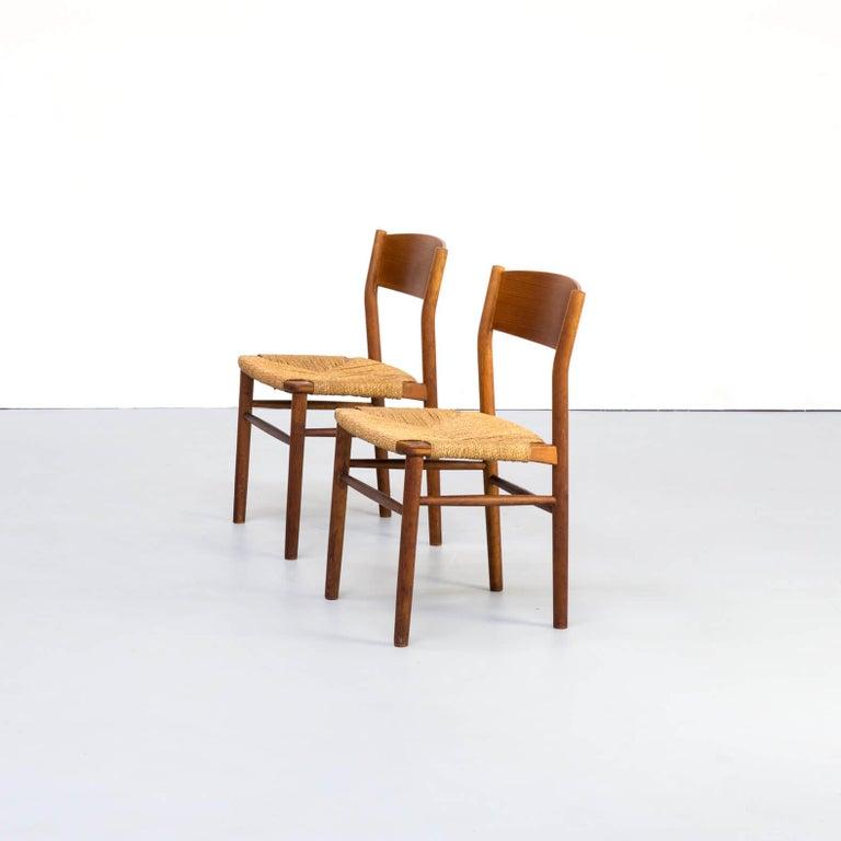 Mid-Century Modern 1950s Børge Mogensen 'model 157' Chair for Søborg Møbler Set of 2 For Sale