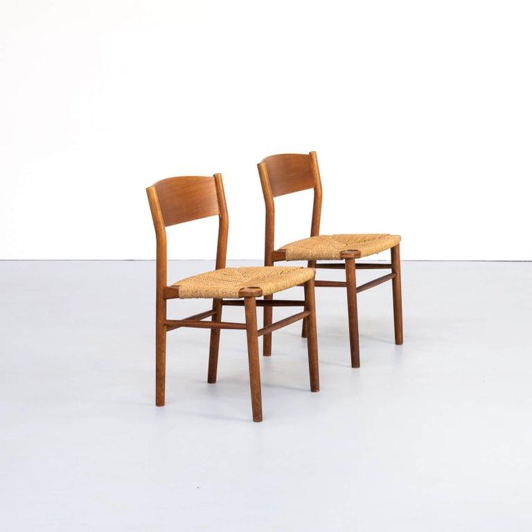 1950s Børge Mogensen 'model 157' Chair for Søborg Møbler Set of 2 In Good Condition For Sale In Amstelveen, Noord