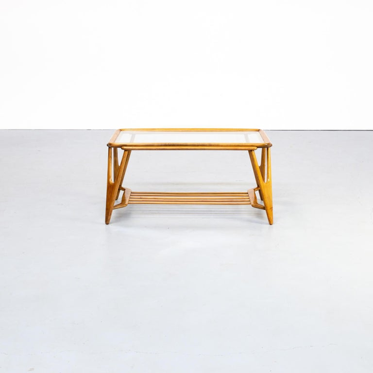 Lacca designed a great many serving trolleys and coffee tables in his career-which make up a large proportion of what is available on the vintage market today-as well as magazine racks. Lacca's iconic coffee table was manufactured by Italian brand