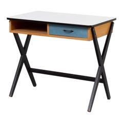 50s Coen de Vries Wooden Writing Desk for Devo