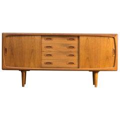 1950s Danish Teak Credenza Sideboard from H.P. Hansen