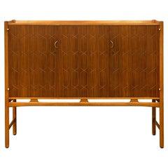50's David Rosen 'Napoli' Cabinet in Teak and Beech for Nordiska Kompaniet