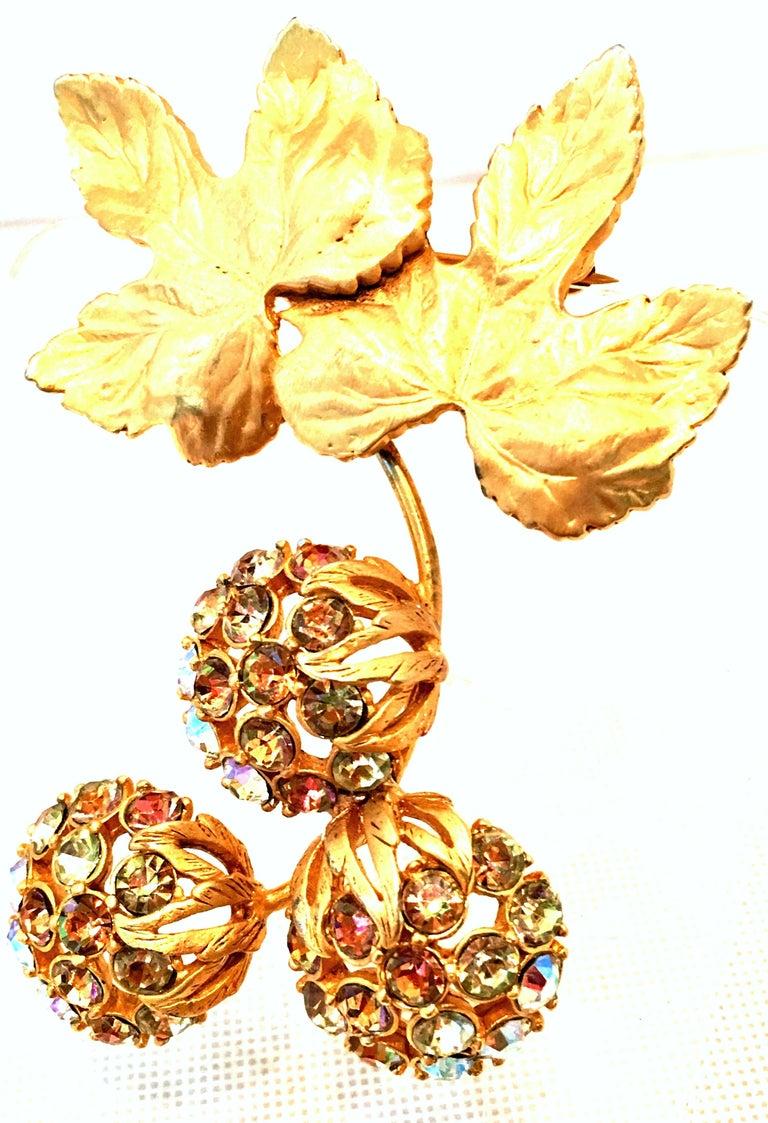 Women's 50'S Elsa Schiaparelli Gold & Swarovski Crystal