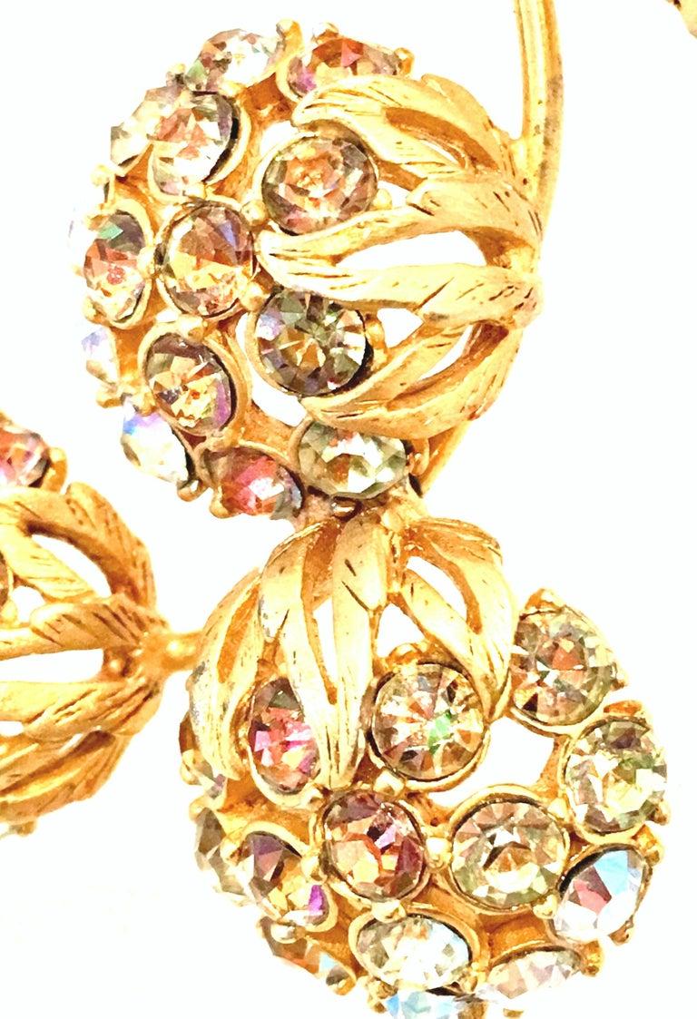 50'S Elsa Schiaparelli Gold & Swarovski Crystal