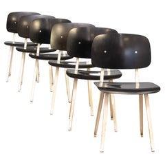 50s Friso Kramer 'revolt' Chair for Ahrend de Cirkel Set/6