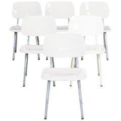 1950s Friso Kramer 'Revolt' Galvanized Chair for Ahrend Set of 6