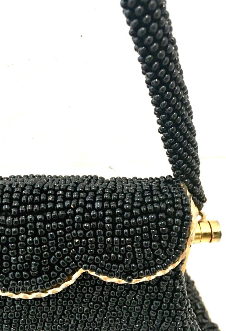 50'S Glass Glass Bead & Crewel Embroidered Hand Bag-Hong Kong For Sale 6