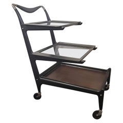 1950s Italian Modern Tea Trolly Bar Cart by Cesare Lacca