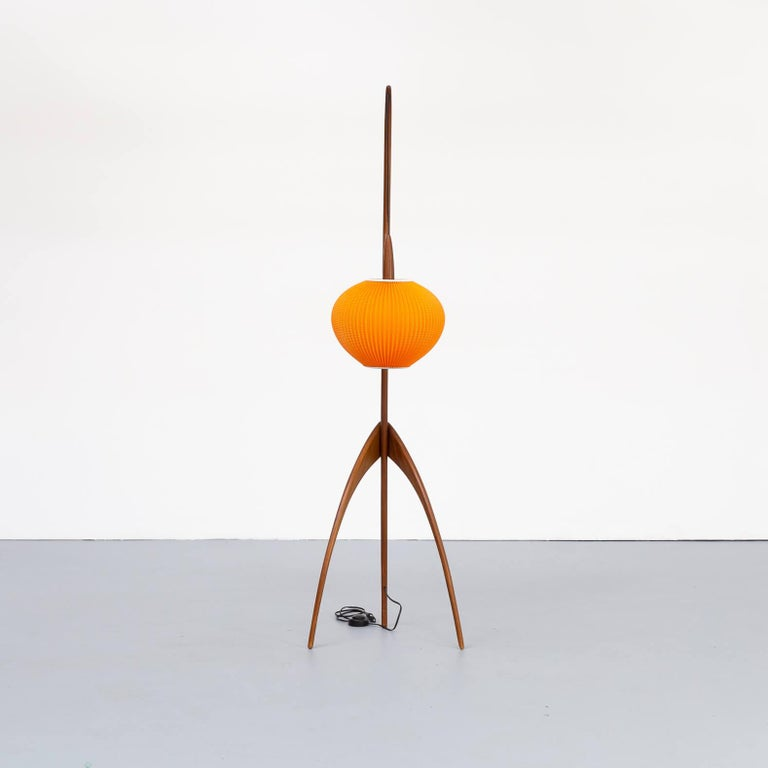 "Mid-Century Modern 1950s Jean Rispal Floorlamp ""Praying Mantis"" for Rispal France"