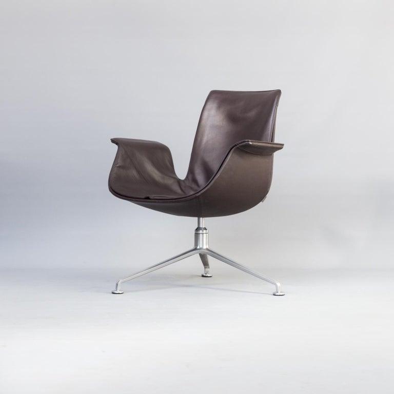 German 1950s Jørgen Kastholm & Preben Fabricius 6727 Tulip Lounge Chair for Knoll For Sale