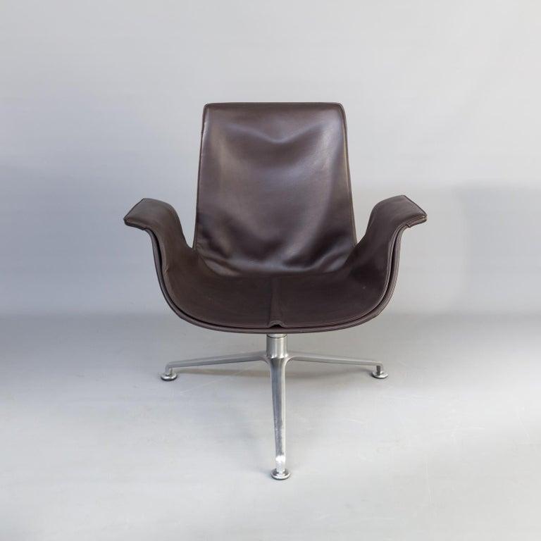 Aluminum 1950s Jørgen Kastholm & Preben Fabricius 6727 Tulip Lounge Chair for Knoll For Sale