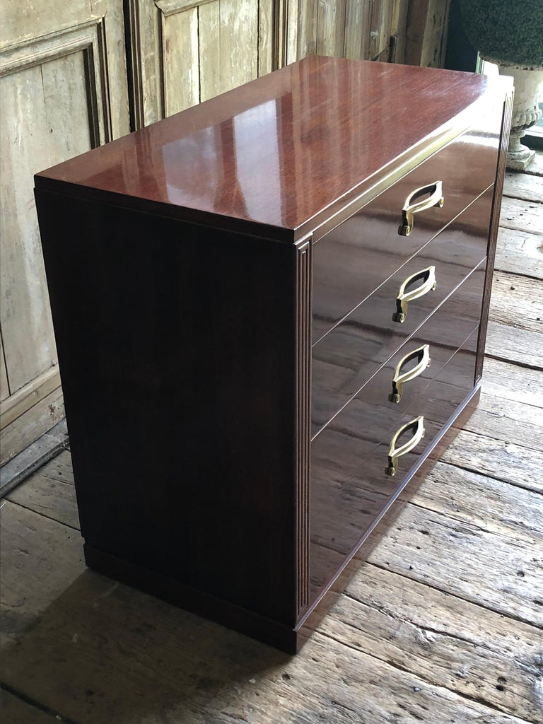 1950s Modern Chest of Drawers in Mahogany For Sale 5