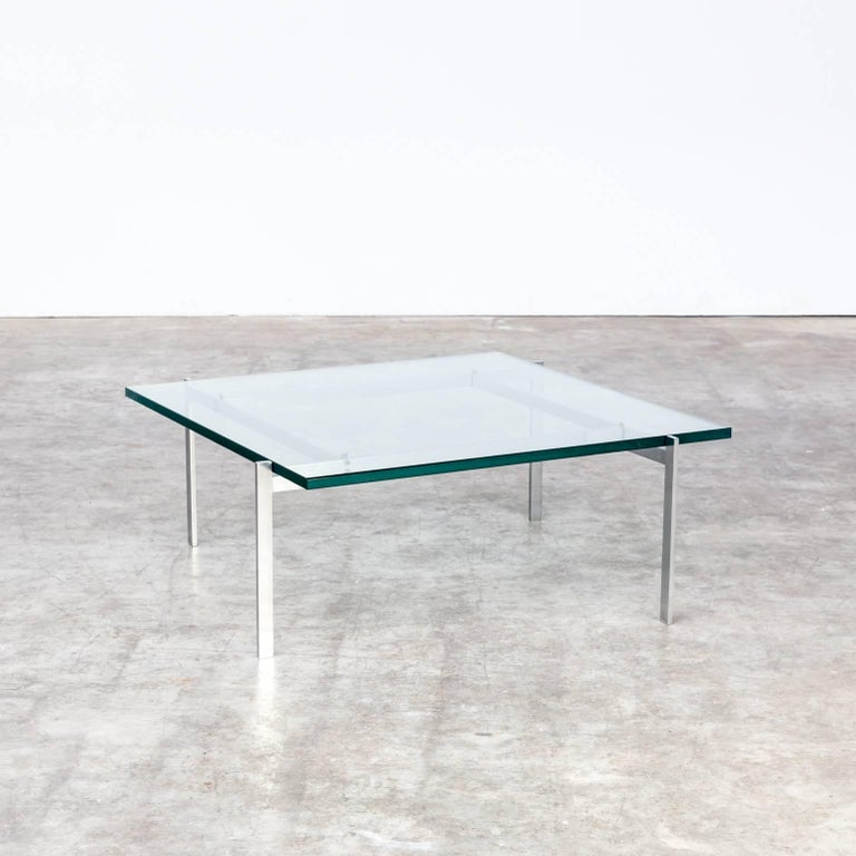 1950s Poul Kjaerholm 'PK61' coffee table for EKC. First edition PK61 (EKC), good condition, wear consistent with age and use, with beautiful patina on the stainless steel.