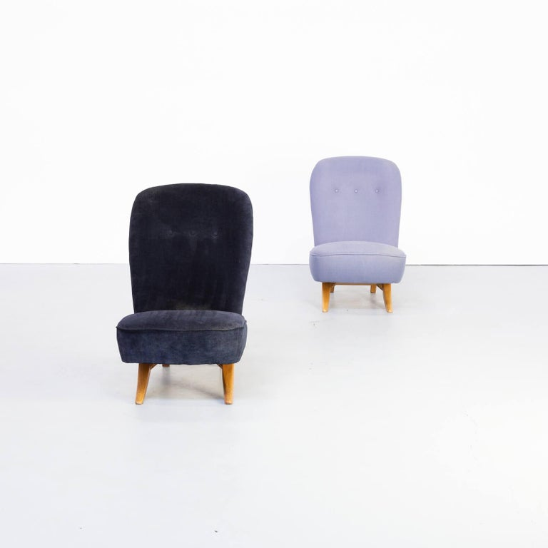 Dutch 1950s Theo Ruth 'Congo' Fauteuil for Artifort Set/2 For Sale