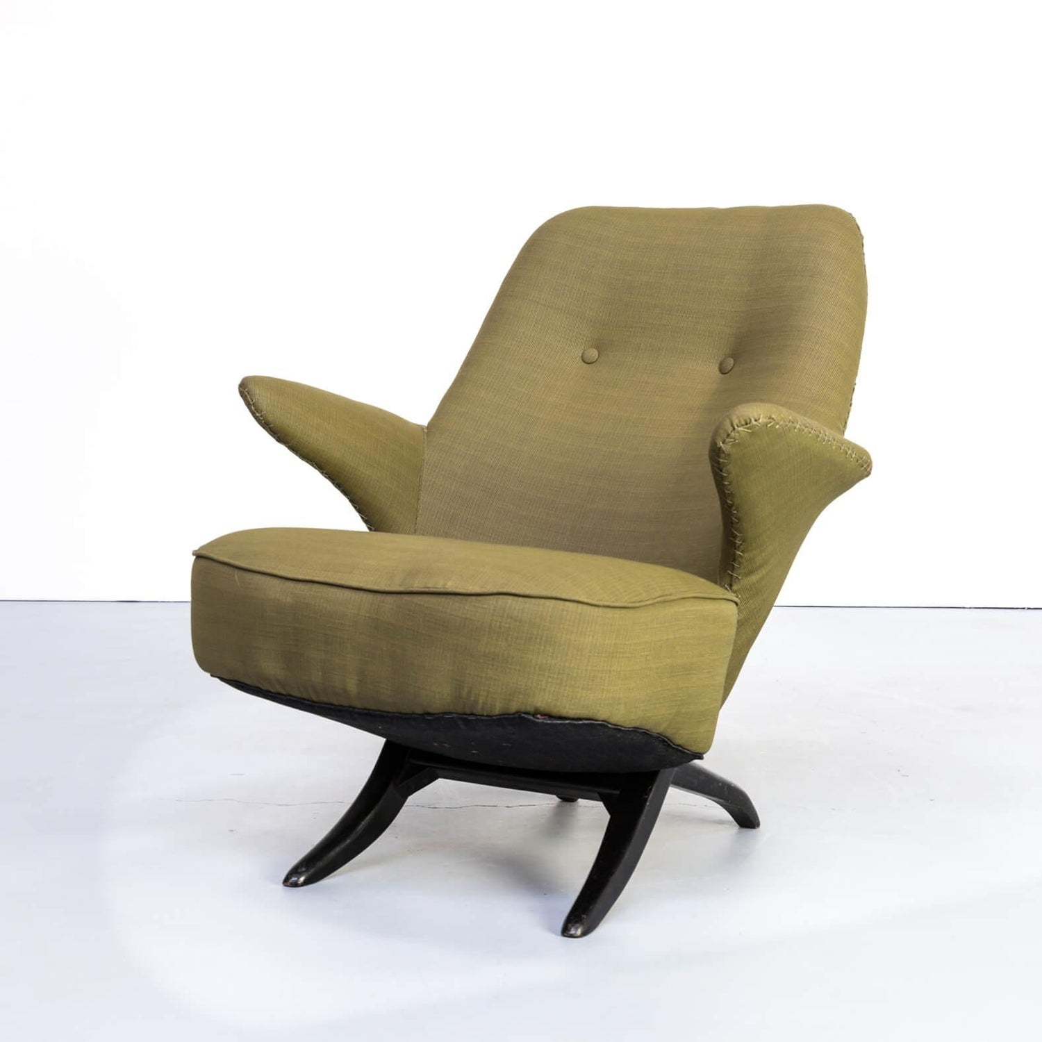Retro Design Fauteuil.1950s Theo Ruth Pinguin Lounge Fauteuil For Artifort For Sale At