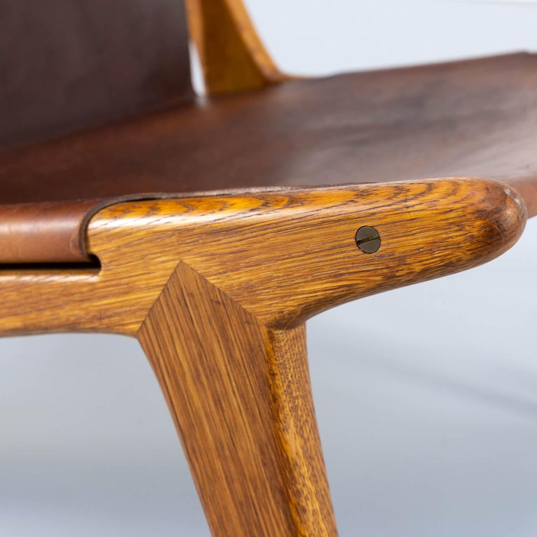 1950s Uno & Östen Kristiansson model 204 Hunting Chair by for Luxus 4