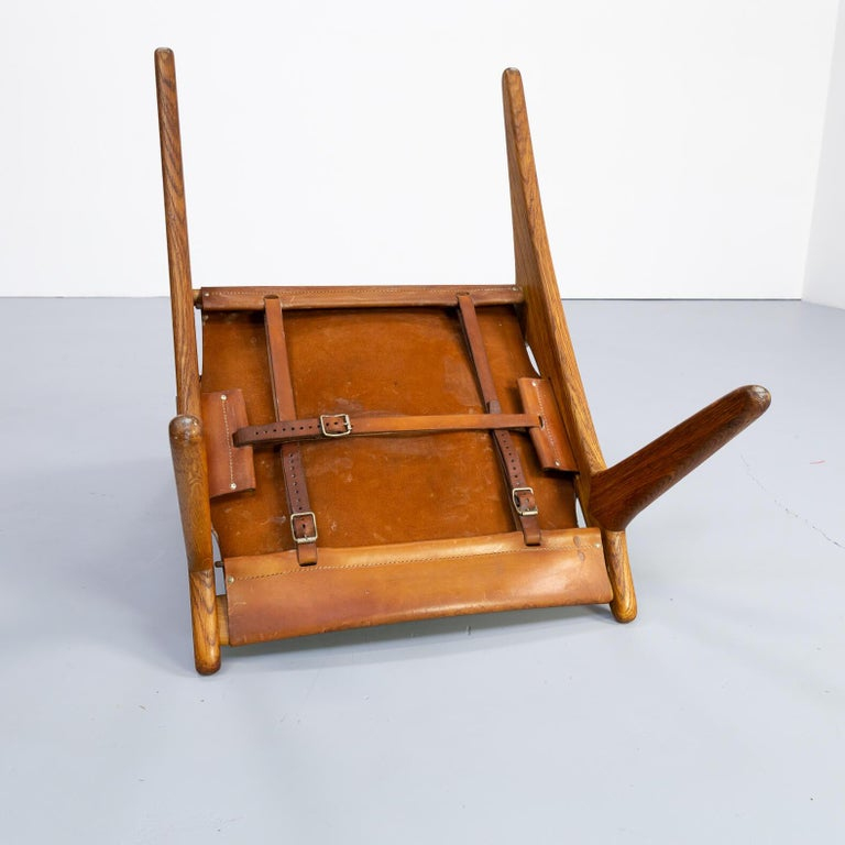 1950s Uno & Östen Kristiansson model 204 Hunting Chair by for Luxus 6