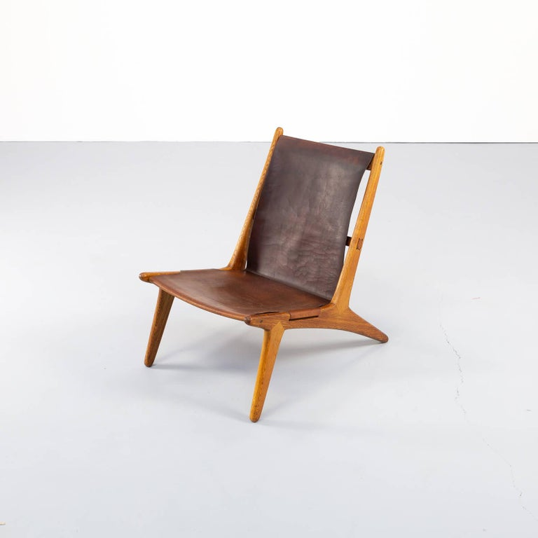 1950s Uno & Östen Kristiansson model 204 Hunting Chair by for Luxus 7