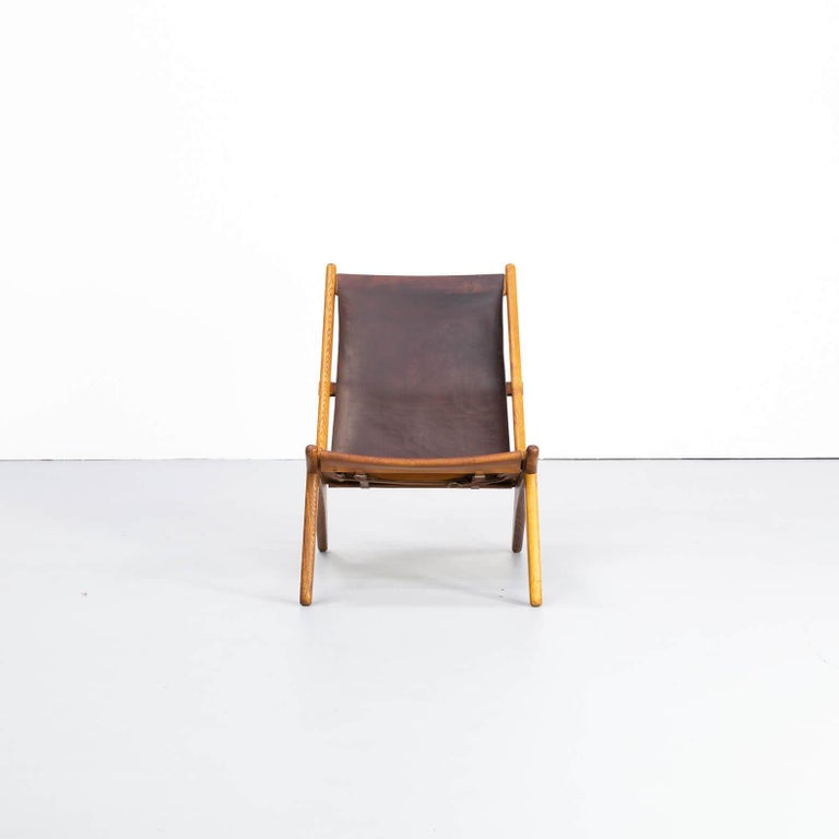 Mid-Century Modern 1950s Uno & Östen Kristiansson model 204 Hunting Chair by for Luxus