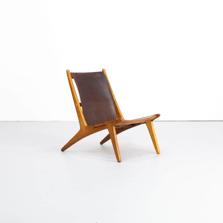 Swedish 1950s Uno & Östen Kristiansson model 204 Hunting Chair by for Luxus