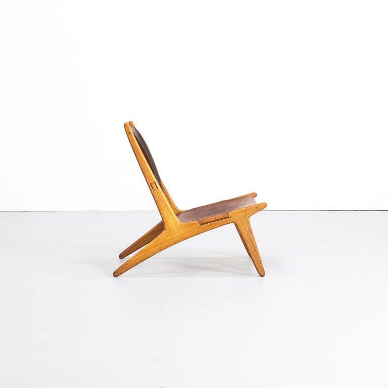 1950s Uno & Östen Kristiansson model 204 Hunting Chair by for Luxus In Good Condition In Amstelveen, Noord