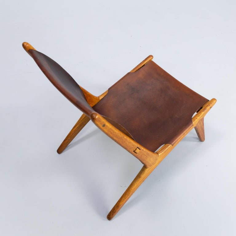 1950s Uno & Östen Kristiansson model 204 Hunting Chair by for Luxus 1