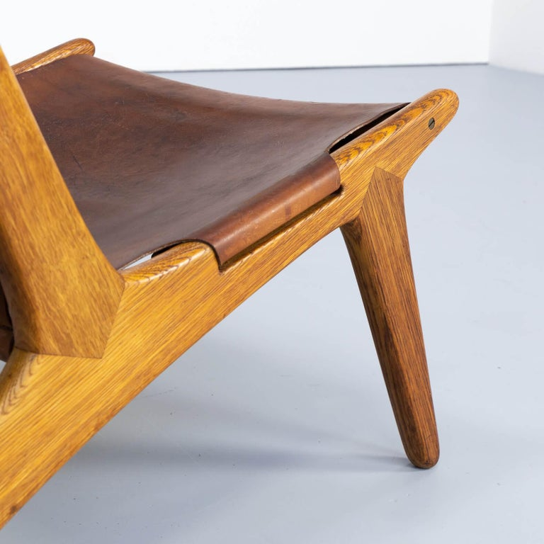 1950s Uno & Östen Kristiansson model 204 Hunting Chair by for Luxus 2