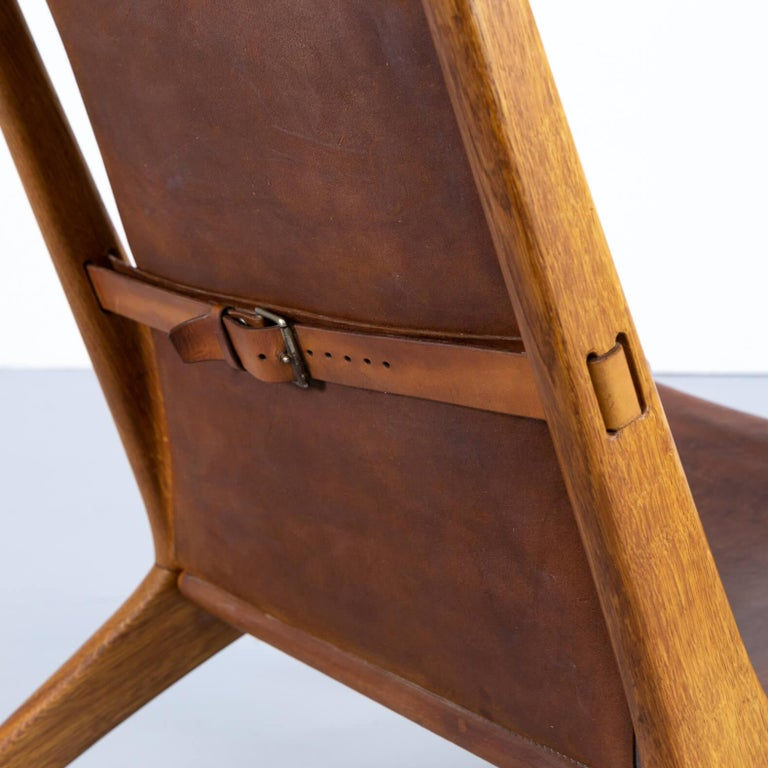 1950s Uno & Östen Kristiansson model 204 Hunting Chair by for Luxus 3