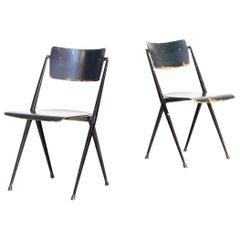 1950s Wim Rietveld 'Pyramid' Chair for Ahrend de Cirkel Set/2
