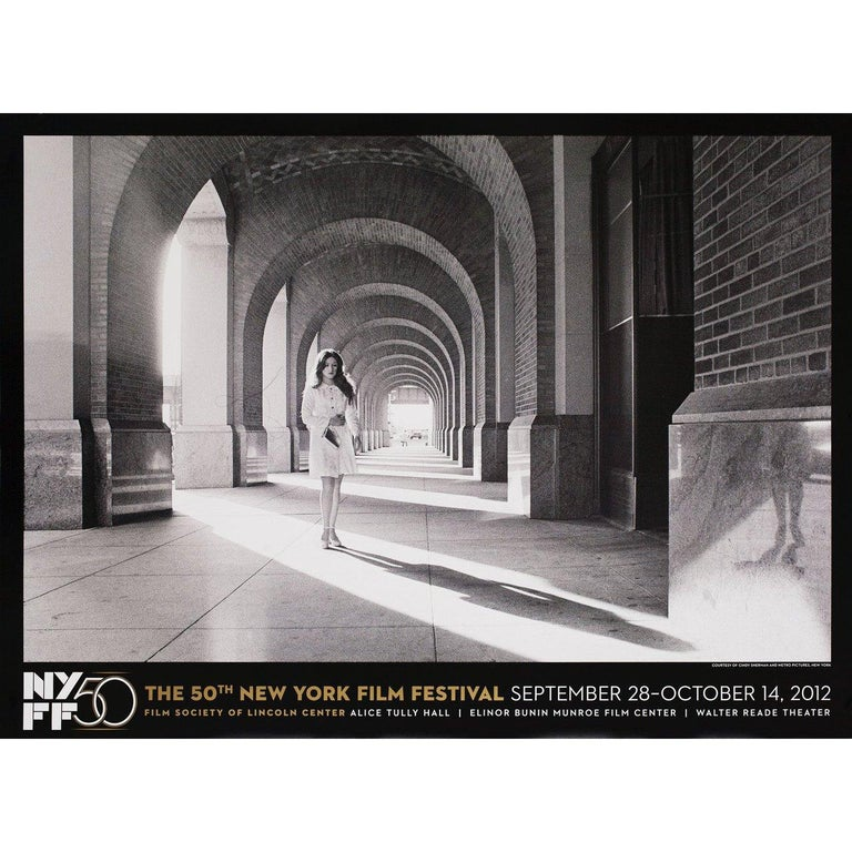 Original 2012 U.S. poster by Cindy Sherman for the 1963 festival New York Film Festival. Very good-fine condition, rolled. Please note: the size is stated in inches and the actual size can vary by an inch or more.
