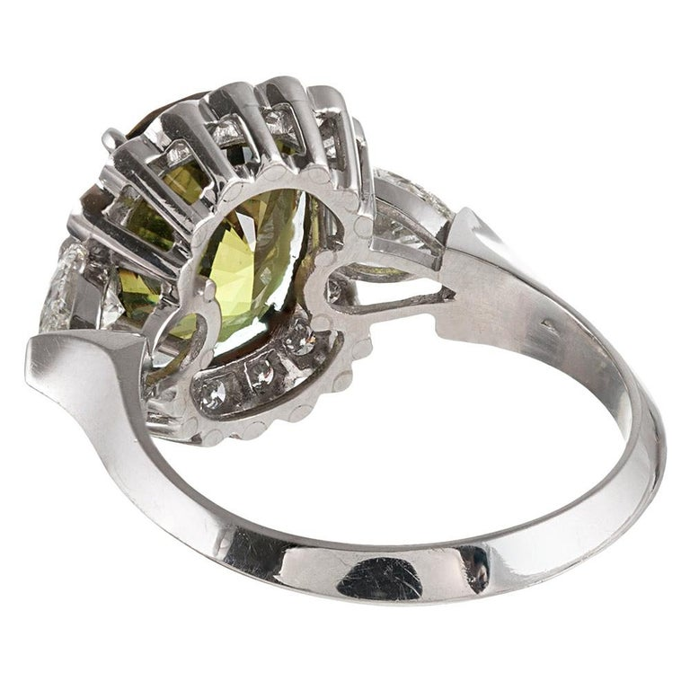 5.10 Carat Alexandrite and Diamond Ring In Excellent Condition For Sale In Carmel-by-the-Sea, CA