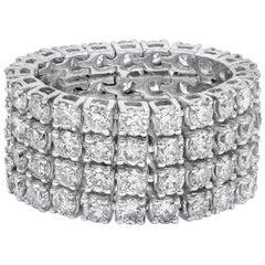 Roman Malakov 5.10 Carat Diamond Four-Row Flexible Ring