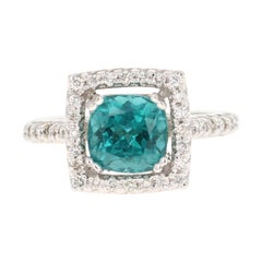 5.11 Carat Apatite Diamond White Gold Engagement Ring