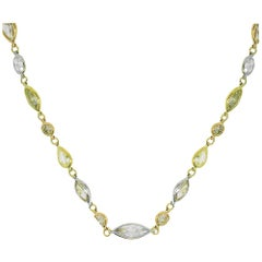 51.34 Carat Multi-Color Diamond Necklace