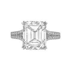 5.14ct Emerald-Cut Diamond Ring 'F/VS1'