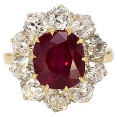 5.15 Carat Cushion Cut, Thai Ruby Ring, AGL Certified