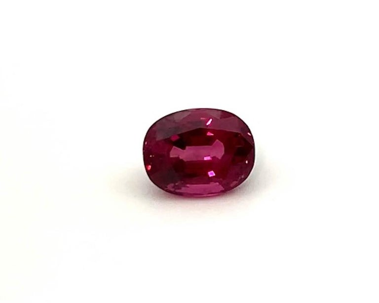 Artisan 5.18 ct. Purple Pink Spinel Unheated Oval GIA, Unset 3-Stone Engagement Ring Gem For Sale