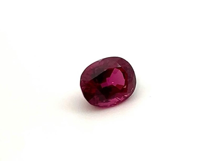 Women's or Men's 5.18 ct. Purple Pink Spinel Unheated Oval GIA, Unset 3-Stone Engagement Ring Gem For Sale