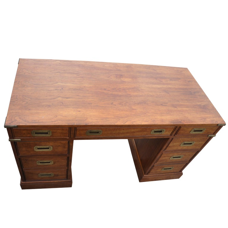 Campaign Style Desk by National Mt. Airy For Sale 4