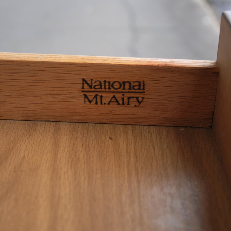 Campaign Style Desk by National Mt. Airy For Sale 5