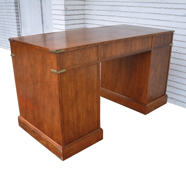 American Campaign Style Desk by National Mt. Airy For Sale