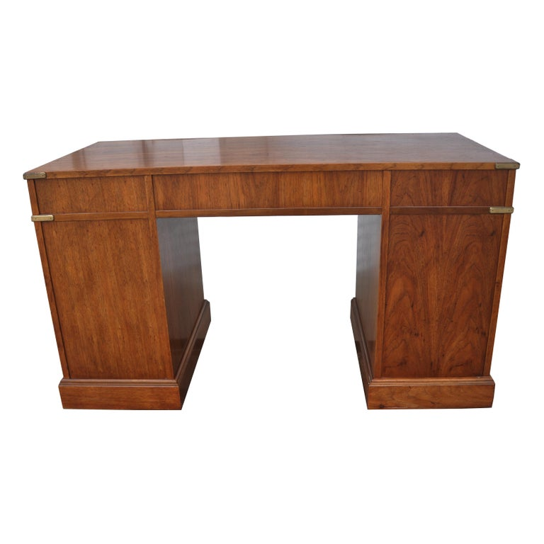 20th Century Campaign Style Desk by National Mt. Airy For Sale