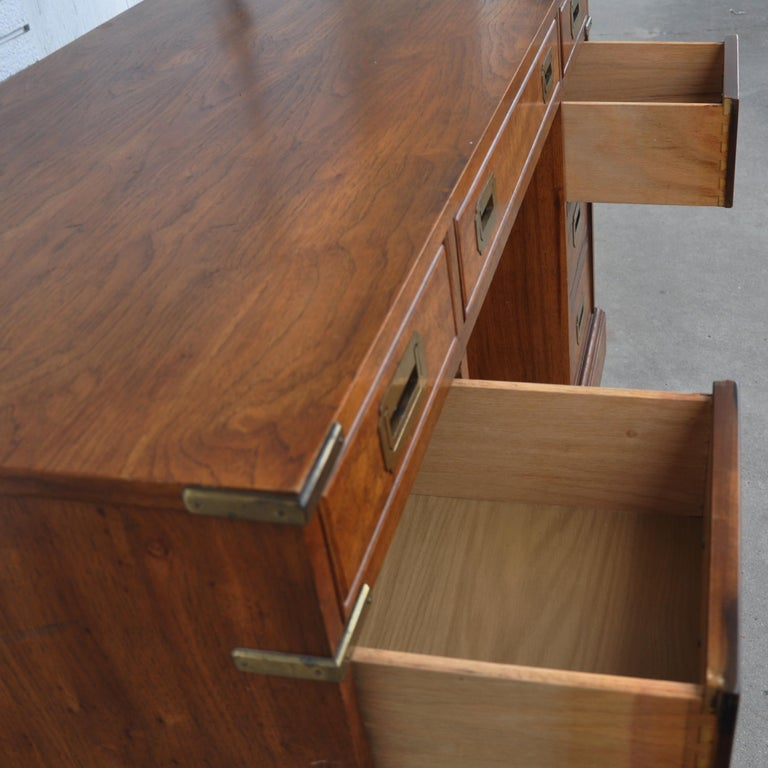 Campaign Style Desk by National Mt. Airy For Sale 1