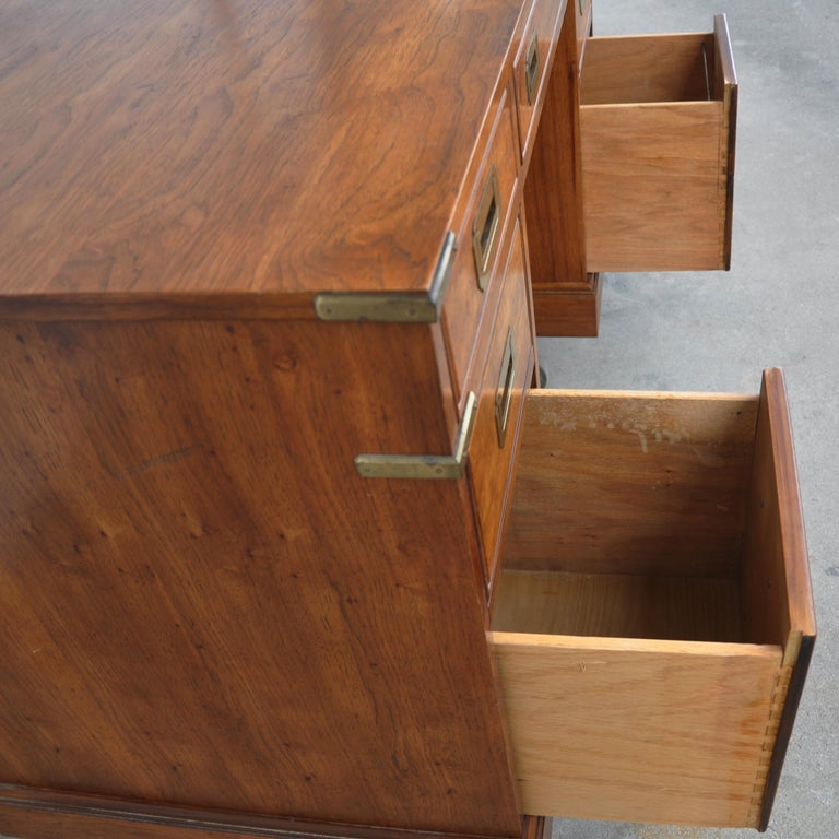 Campaign Style Desk by National Mt. Airy For Sale 2